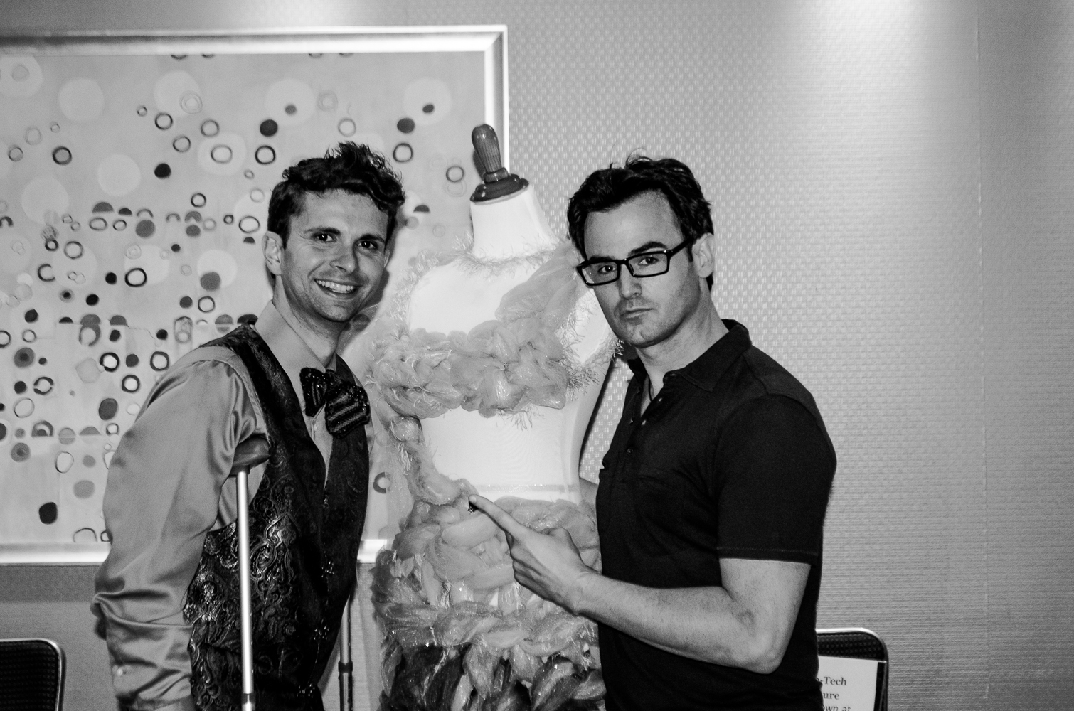 Cal with Chance Spiessbach from Chance TV for the Wearable Tech Exhibit at New York Couture Fashion Week.