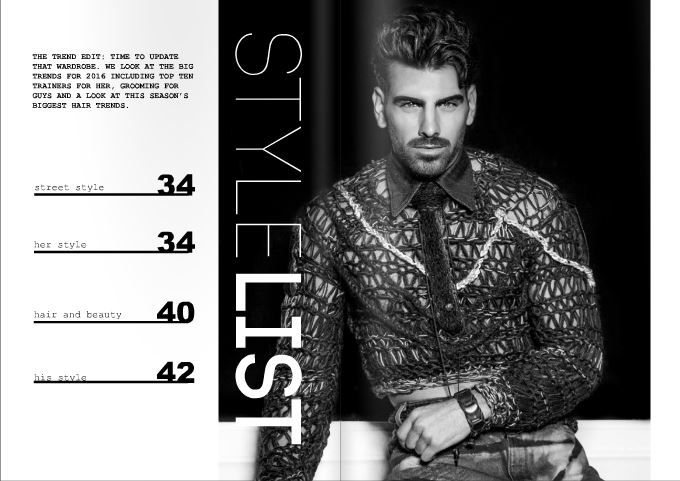 Nyle Dimarco for 69 degrees Magazine in GSb Wearables featuring boutique smartwear for charity.