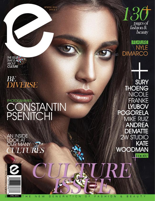 Ellements Culture Magazine de abril de Emisión el año 2016 con el tirón ejemplar Nyle Di Marco ..