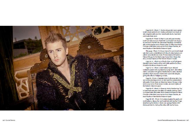 Fur Coat Editorial Compassionate Fur Alpaca knit Military style GSb Mens Couture.