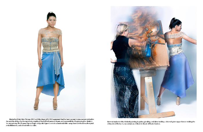 Cloud Orchid Magazine Editorial j-na couture and GSB Men's Couture with Artist Misa Art on Couture Empowerment.