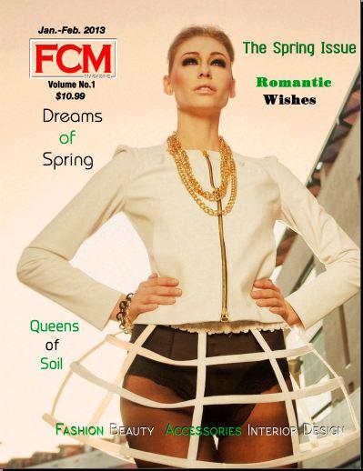 FCM Couture Magazine con j-na couture Editoriale gennaio 2013.