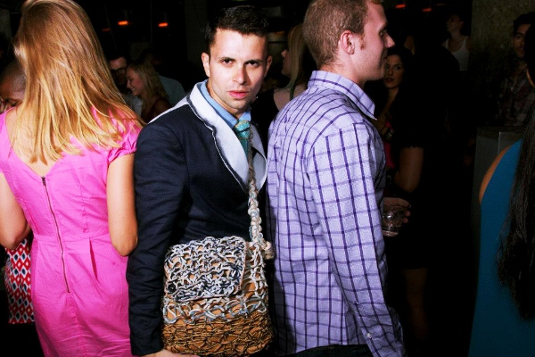 A Fashions night out event in Chicago crowed with Cal from GSb mens Couture.