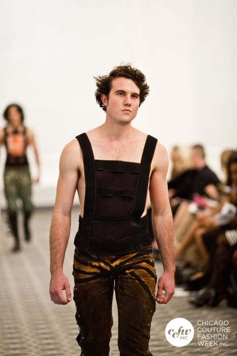 Form enhancing Hand Dyed and Made Semi Sheer Couture Tanks for SS14. GSb Men's Couture.