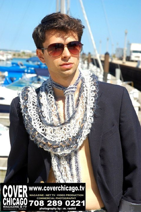Gsb Men's Couture Scarf for SS13. Custom and distintive in every way.