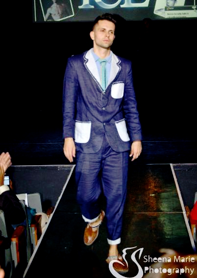 GSb mens couture 2012couture suit on runway modeled by designer CAL G