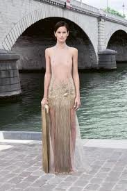 sheer see-thru haute couture