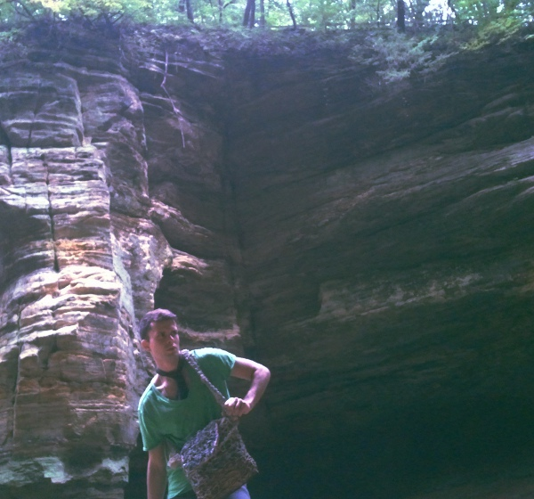 Bolso Mesajero GSb couture 2012 en Starved Rock State Park.