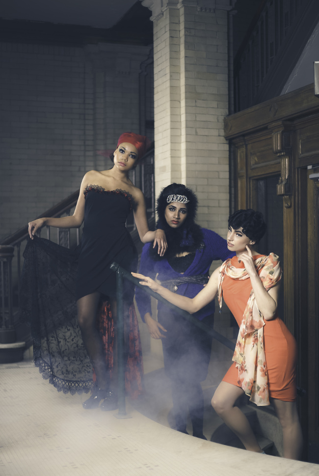 Iconic Actress editorial in j-na-couture featuring Audrey Hepburn, Diana Ross, and Sophia Loren.