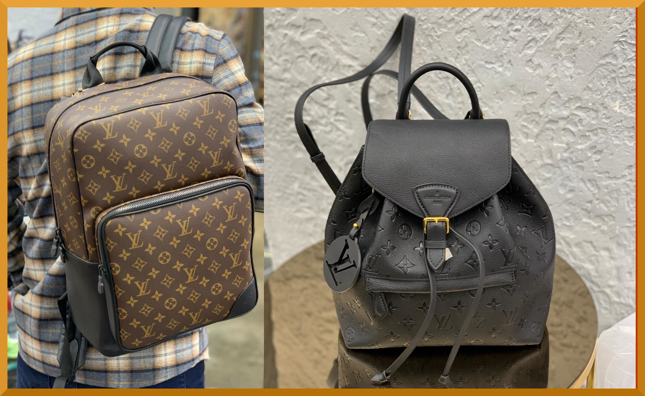 Backpacks that are so well done, a minimalist approach to Louis Vuitton.