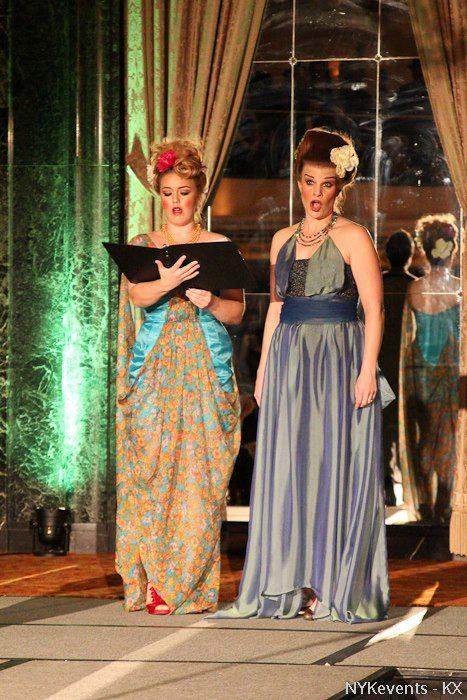 Cantante de la Opera Chicago Mary Lutz en j-na couture 2012.