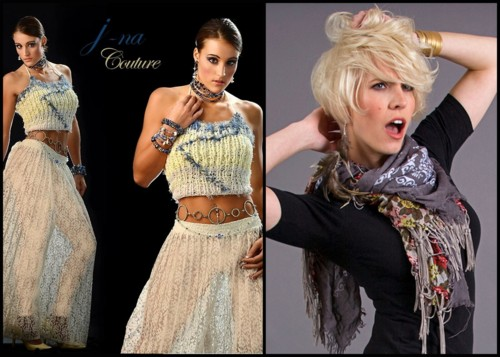 Winning wearable Couture is possible on the j-na facebook page! See Rachel Jay, the winner of our contest and the ensemble she picked out!