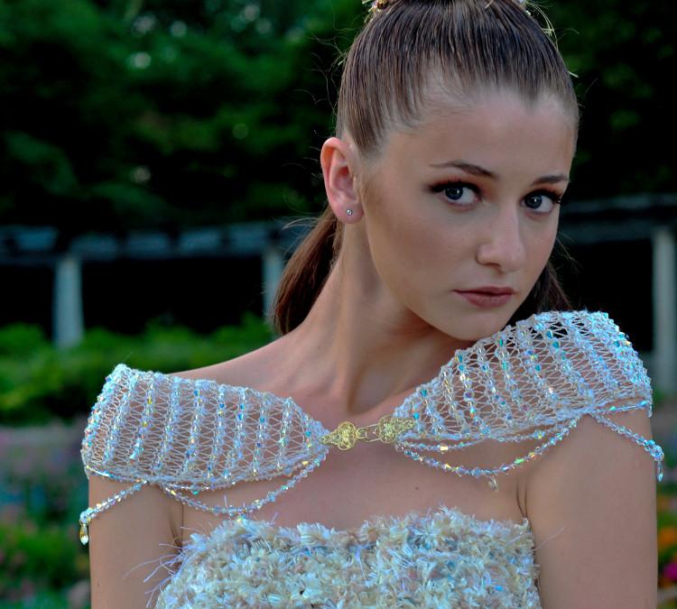 j-na couture swarovski Crystal mini wrap.