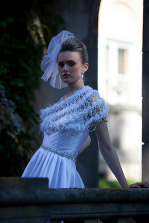 Now-a-days modesty is the best policy in bridal. A j-na couture wrap has you covered.