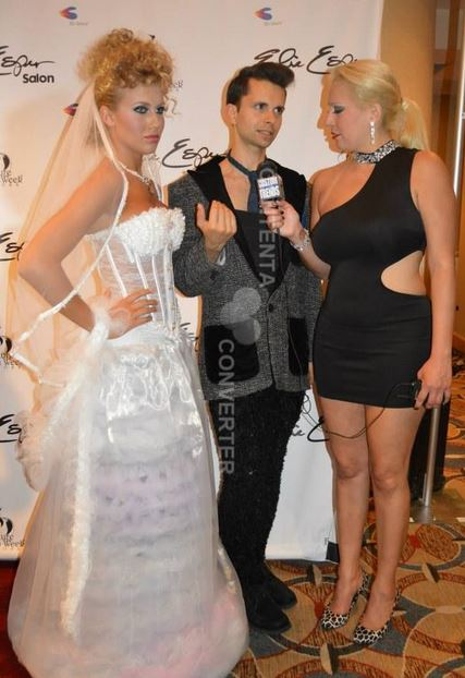 Cal Garcia on the red carpet New York Couture Fashion Week interview with Trixie From Custom Trends.