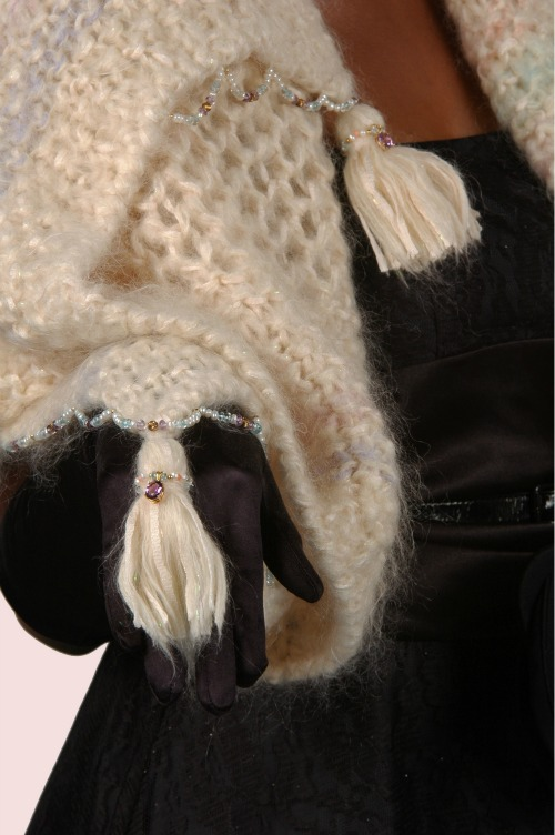 Fur wraps with gemstones haute couture 2013.
