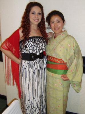 Photo of myself! (on left) I luv Asian Couture!