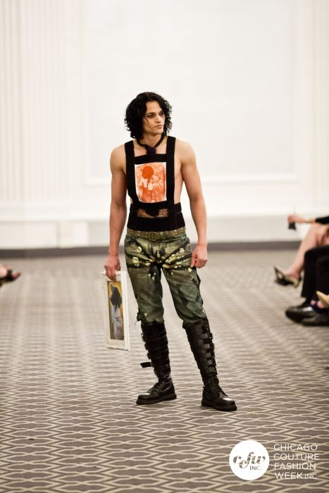 ECO couture jeans and prints on the couture week runway.