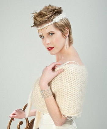 j-na couture Swarovski Head wrap bridal accessories inspired by time period couture.