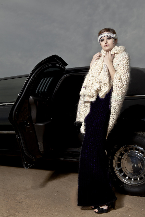 j-na 2012 collection treasures wrap in compassionate fur, silk, and gemstone jewelry adornments.