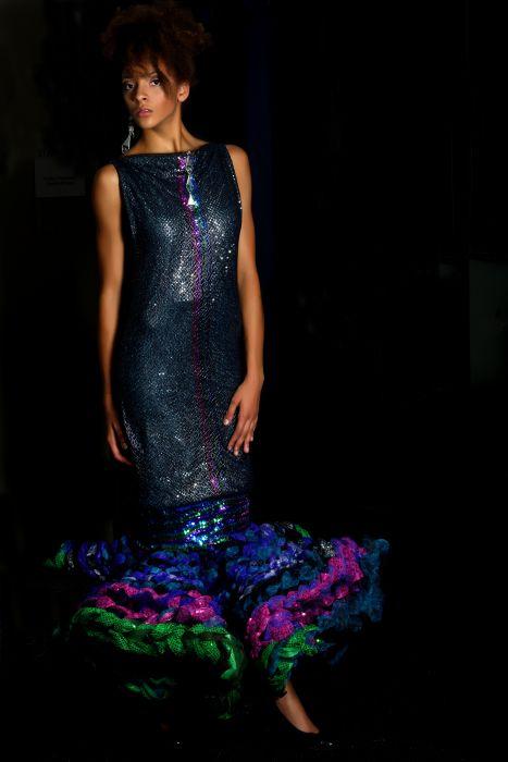 Moda del futuro. La impresa 3D couture vestido wearables de J-na Couture.