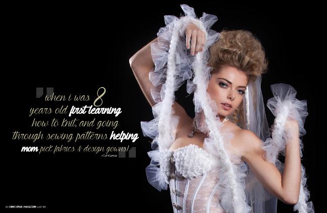 Alta tecnologia vestidos de novia de alta costura debut photoshoot editorial durante Semana de la Moda de Nueva York.
