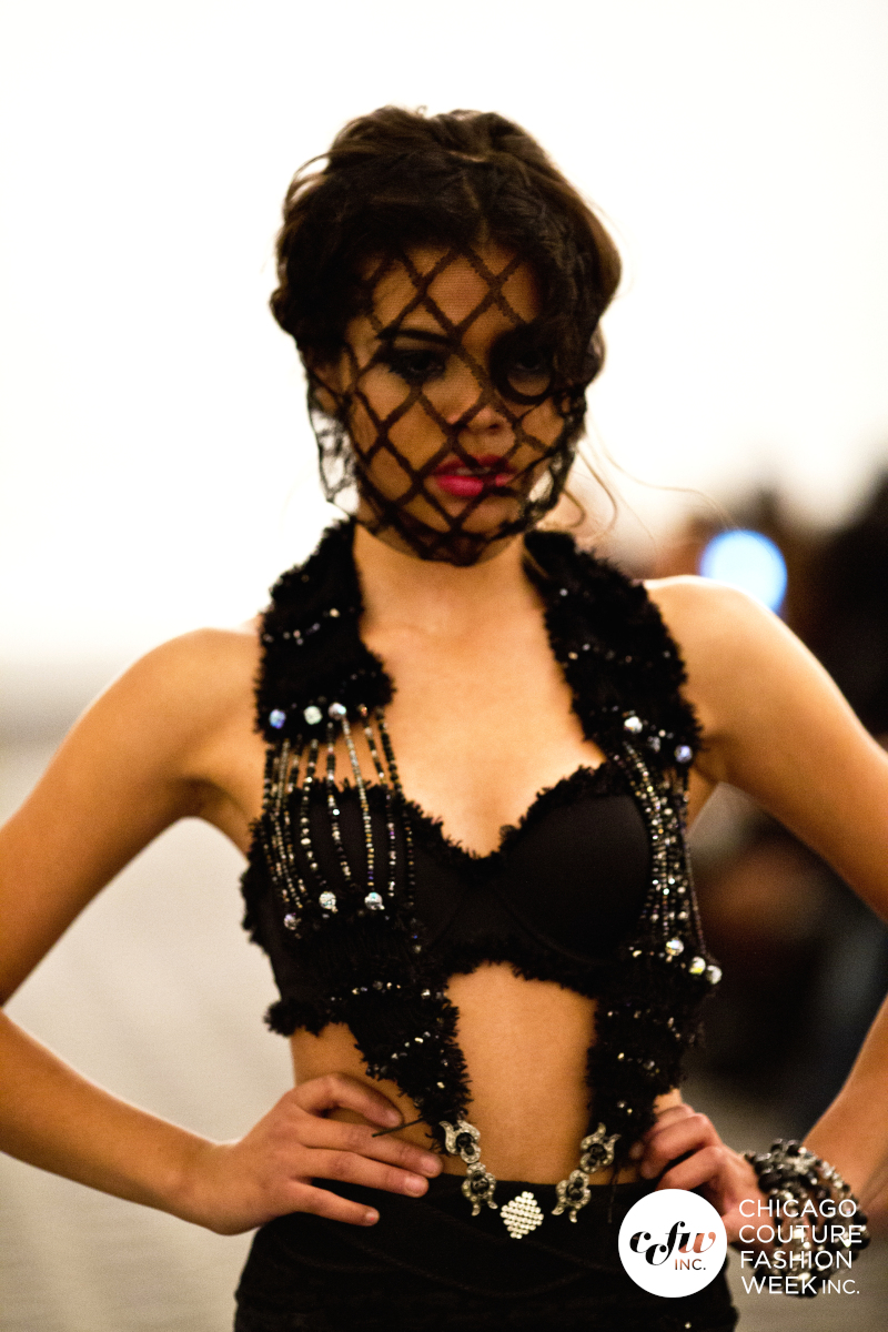 What is better than a hand knit bra top for this summer? A bra top dripping with Swarovski crystals. Only here at J-na Couture do we design with only the best for that extra wow factor.