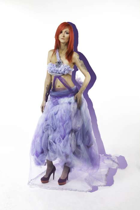 j-na couture alternative gown in tulle pastel fantasy.
