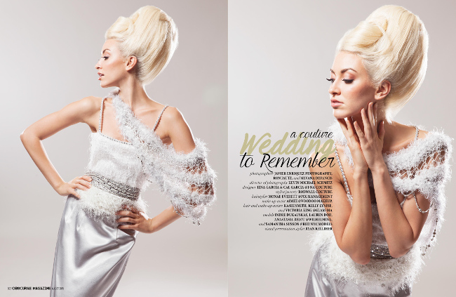 Editorial Photography Haute Wedding Dress Mature Credits and Titled. A Couture Wedding to Remember.