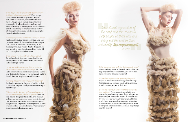 Ombre Tulle j-na couture Dress that was featured in an exclusive interview with designer Cal Garcia and Obscurea Magazine.