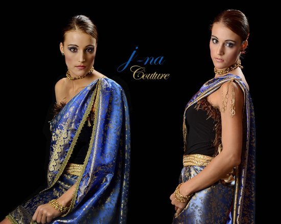 j-na couture evening wear sari