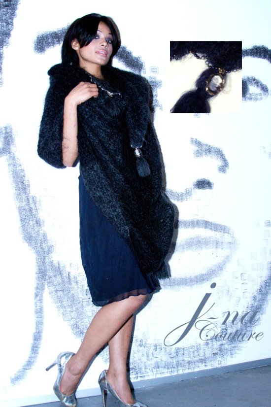 midnight lace treasures fashion wrap with jewelry embellishments
