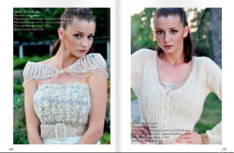 Keel Magazine with j-na couture editorial January 2013. Hand knit  couture.