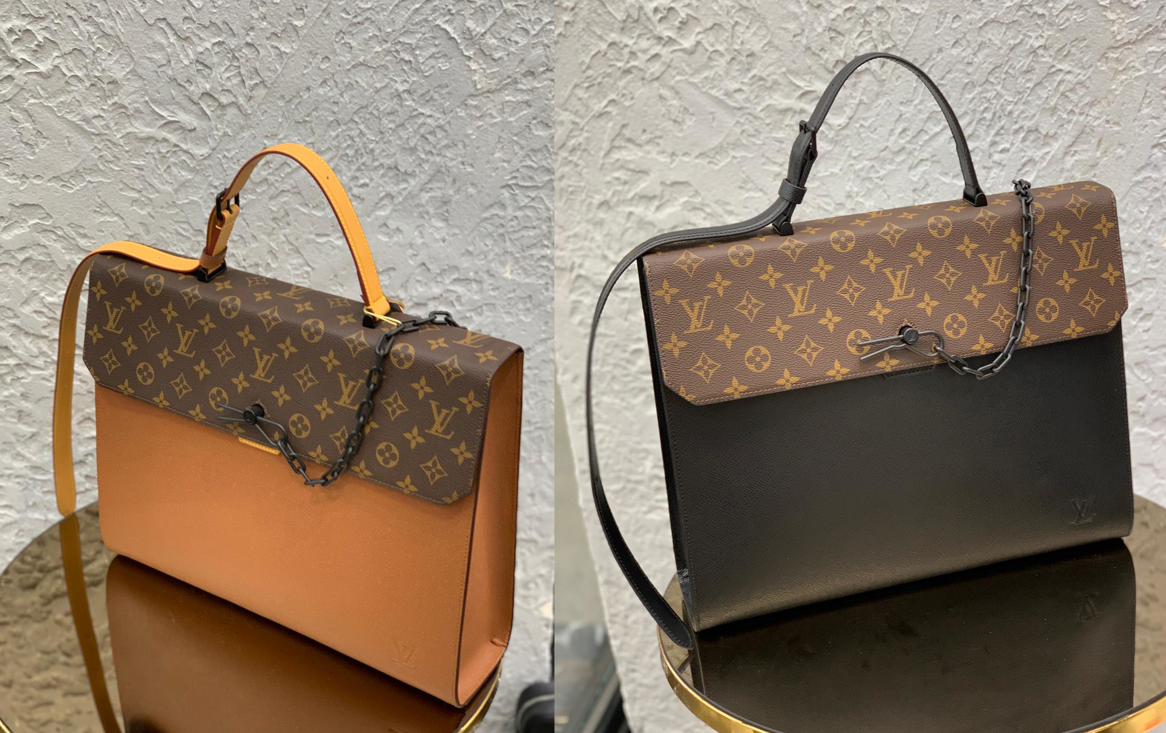 The colors on these bags are so yummy! A stark contrast to the serious business that these brief cases demand.