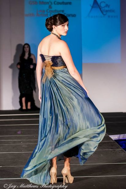 j-na couture plus gown knit corset and silk chiffon with Swarovski.