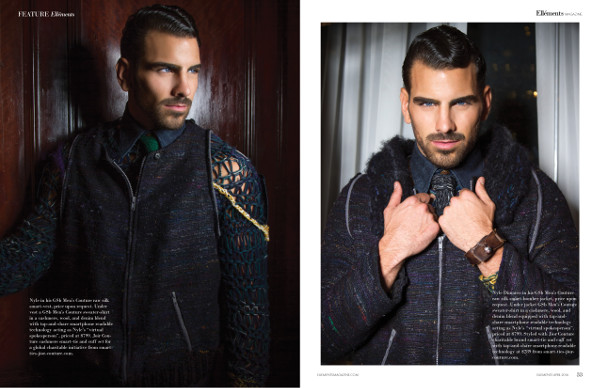 Nyle Dimarco for Ellements Magazine New York in GSb Wearables supporting a charitable initiative.