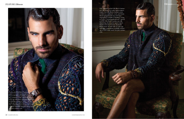 Nyle Dimarco in GSb Couture Wearables for Ellements Magazine.