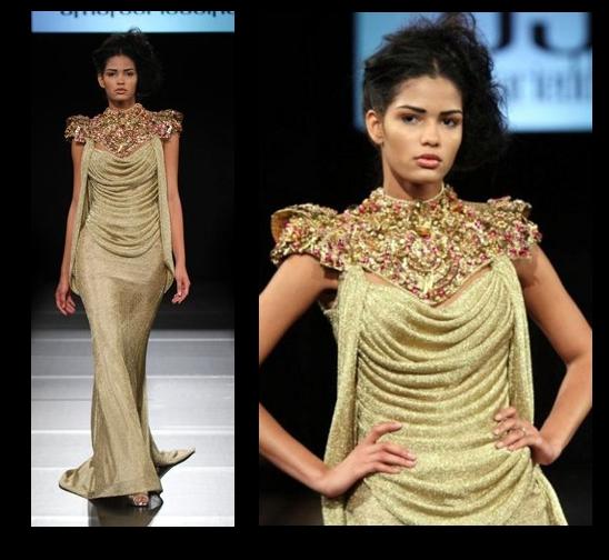 Golden sun couture NC Couture Fashion Week  Amal Sarieddine