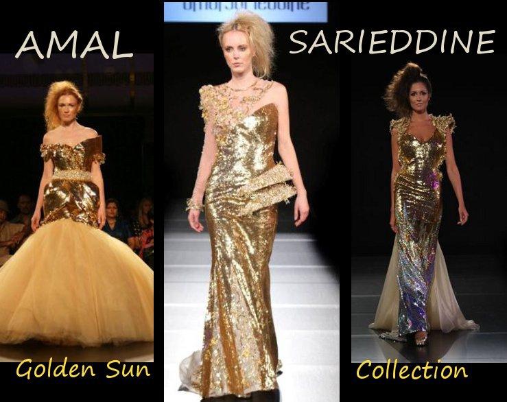 Amal Sarieddine Couture Golden Sun Collection 2010