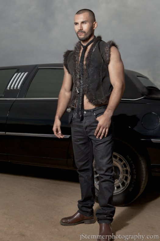 fur and leather vest mens couture 201