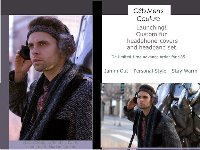 GSb Mens Couture Headphone-Covers are the way to stay stylish and warm this winter while jamming out to your favorite tunes.