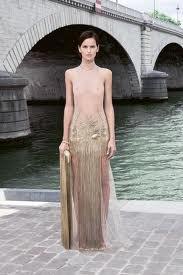 sheer see-thru haute couture