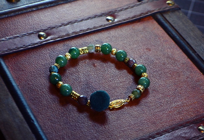 Adventurine Men's wearables Bracelet supporting artesian mom's in Latin America and local Artists for custom Design while supplies last limited edition. For Tech savy and fashion forward men.