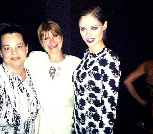 Jena Garcia-Taylor and Coco Rocha behind the scenes at New York Fashion Week.