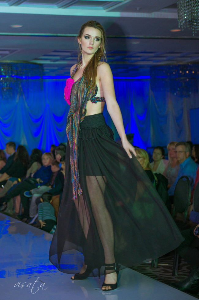 Bo-Ho Couture Gown that is Eco and treats your skin with herbs as you wear it.Innovations in High-Tech and Fashion, NFC Enabled presented by j-na couture.