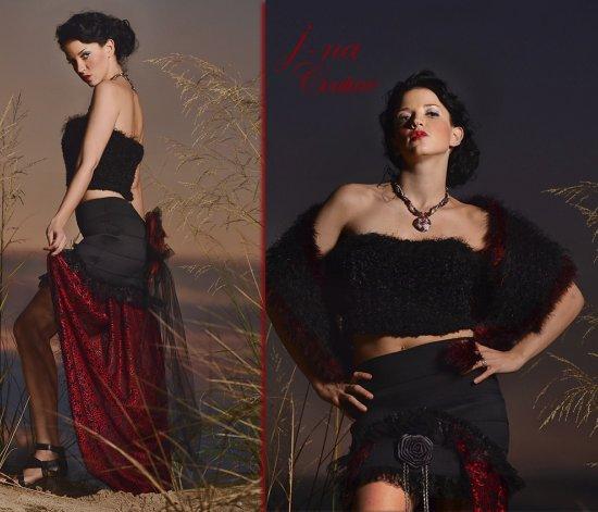 rokera espanola vestido couture j-na couture moda.