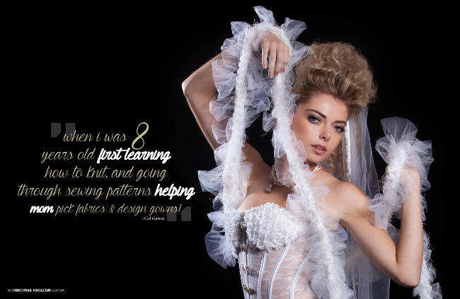 Exclusive interview with designer Cal from j-na couture wearable tech and designer wedding dresses..