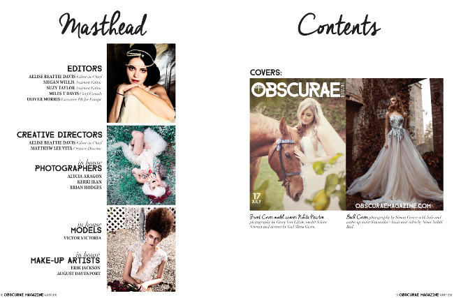 Editorial Obscurae Magazine August 2015 j-na couture.