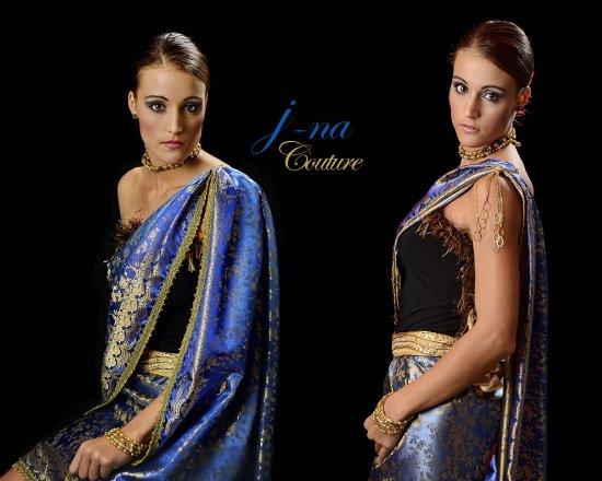 j-na couture evening wear sari