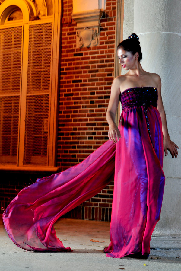 I am a lover of the flow and movement of sheer silk chiffon....it is so dreamy even when just walking forward!